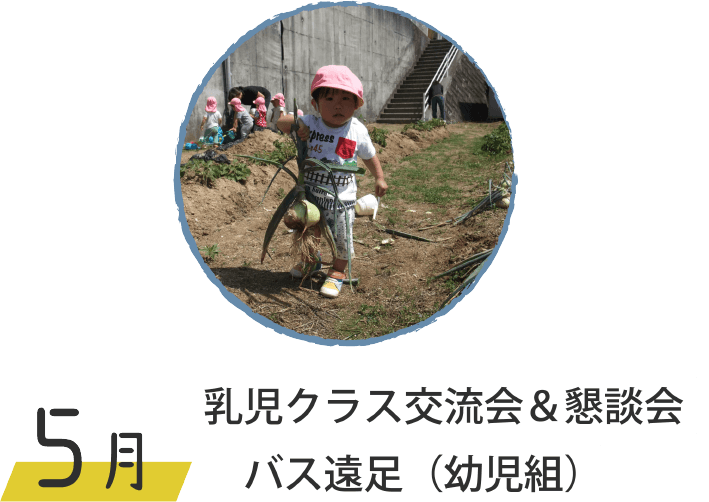 5月 乳児クラス交流会&懇談会 バス遠足